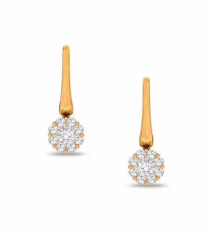 ee4b8b99c A Dangling Globe Vallies Diamonds Ear Studs at Rs 94797 /set ...