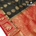 Party wear Elephant Gadwal Silk Fancy Sarees, 6 m (with blouse piece), Packaging Type: Box, Packet