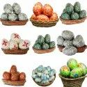 Colorful Paper Mache Easter Eggs Custom Hand Painted
