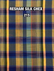 Resham Silk Chex Fabric