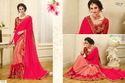 Red Royal Printed Saree
