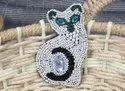 Cat Design Bead Patch
