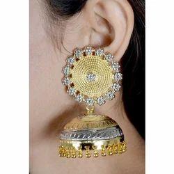 Silver Gold Rhodium Jhumki