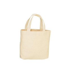 Silk Handled Organic Cotton Carry Bags, For Shopping
