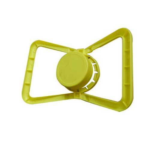 Plastic Yellow Carry Handle Bottle Cap
