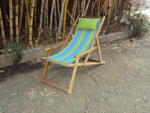 Bon Wooden Deck Beach Outdoor Garden Chair Lounger