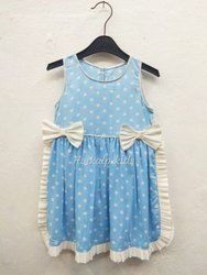 rayon Regular Wear Kids cotton Frock Design, Size: 26.0, Age Group: 1 To 10 Year