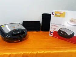 Black FARM HOT X2-5503 Multi Grill 2 In 1 Toaster 750 Watts