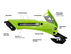 Safety Cutter- 3-In-1 Tool W/ Metal Fixed Guard