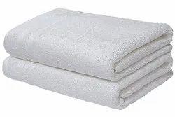 Plain White Cotton Bathroom Towel
