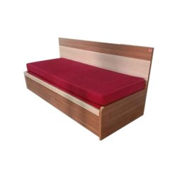 Bold Bella Wooden Sleek Sofa Cum Bed with Storage Mattress for Home