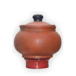 Earthen Curd Pot With Cap (500 Ml)