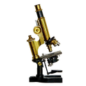 Compound Laboratory Brass Microscope