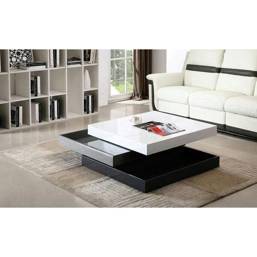 Wooden White And Black Square Modern Center Table, Rs 5500 ...
