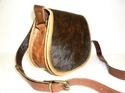 Hair On Leather Saddle Bag