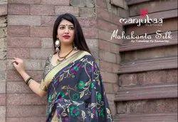 Patola Zardozi Work Jamdani Silk With Heavy Silk Saree