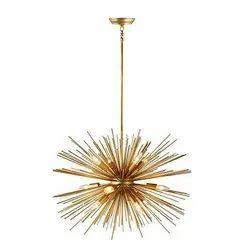 LED Brass Modern Chandeliers