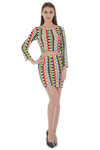 699325b6eca49 Multicolor Smith William London Crop Top And Short Skirts