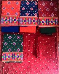 Embroidered Churidar Suit Material