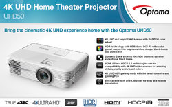 Optoma Projector : UHD 51, Office Automation Products