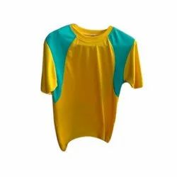 Polyester Plain Mens Casual T Shirt, Packaging Type: Packet