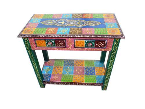 Indian Hand Painted Console Table