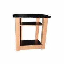 Brown / Black Free Standing Corner TV Stand, Size: H 30