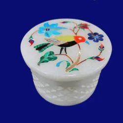 White Marble Round Boxes