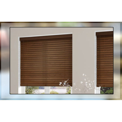 brown horizontal wooden blinds rs 195 square feet shweta