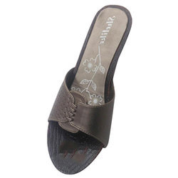 Blackish Grey Ladies PU Footwear