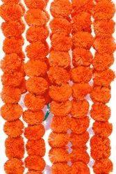 Artificial Flowers Marigold Garlands for Decoration Pack of 5 Orange