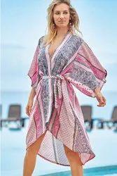 digital printed Kimono