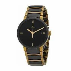 Round Stainless Steel Rado Wrist Watch, Warranty: 12 Month