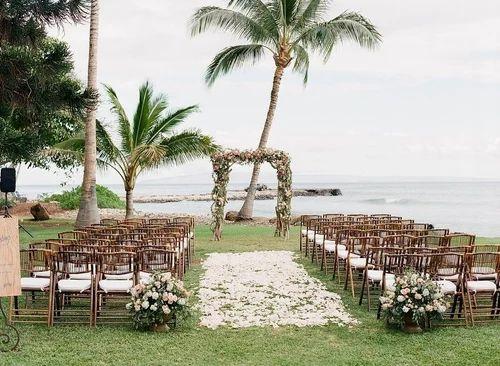 Wooden Bamboo Folding Wedding Chair