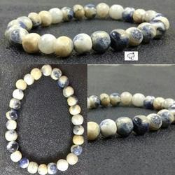 Sodalite Plain Round Bracelet