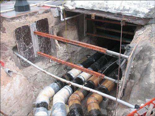 underground water line installation