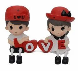 Cute Romantic Love Hanging Legs Showpiece Dolls (Pair) for Home Decor. Very Nice Gift Item
