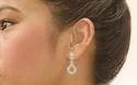 Coralsind Sparkling Pendant Cubic Zirconia Drop Earring
