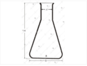 Conical Flasks (Erlenmeyer),Transparent