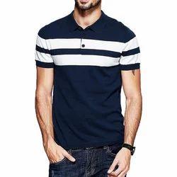 Mens Cotton Collar T Shirt