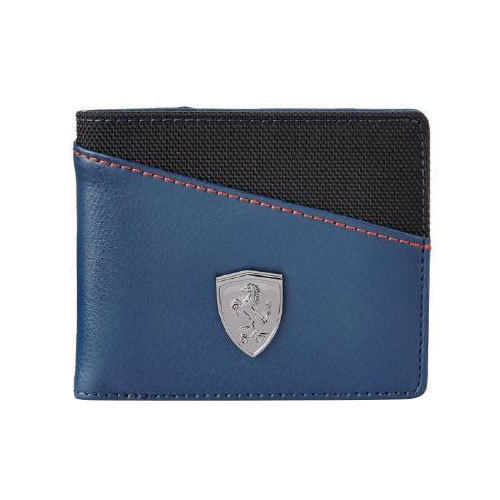 5dd44e1ed1095 Mens Puma Leather Blue And Black Wallet