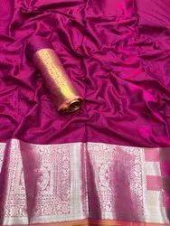 Festive Wear Banarasi Silk Sarees, 6.3 M (With Blouse Piece)