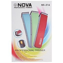 nova rechargeable trimmer ns 216