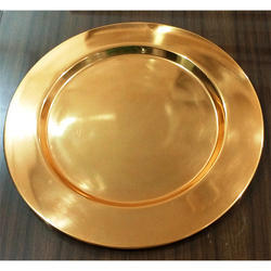 Gold Finish Charger Plate