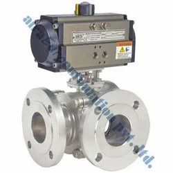 Pneumatic C Way Ball Valve