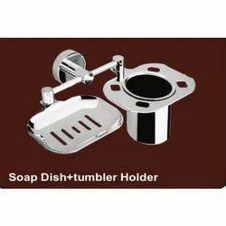 Brass Sliver Soap Dish Tumbler Holder, For Bathroom Fitting