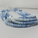 Natural Blue Opal Plain Tyre Smooth Heishi Beads