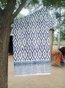 Handmade Kantha Bed Cover Trow Hand Block Printed