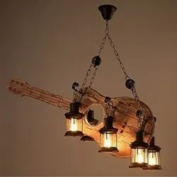 Wooden Guitar Hanging Light