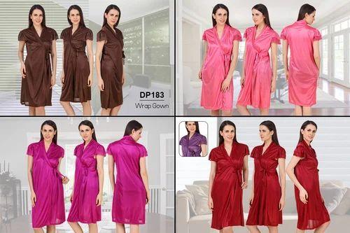 a7516b7952 Fasense Satin Women  s Wrap Gown